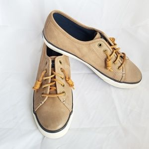 Sperry shoes crest side slip on leather 9.5 M